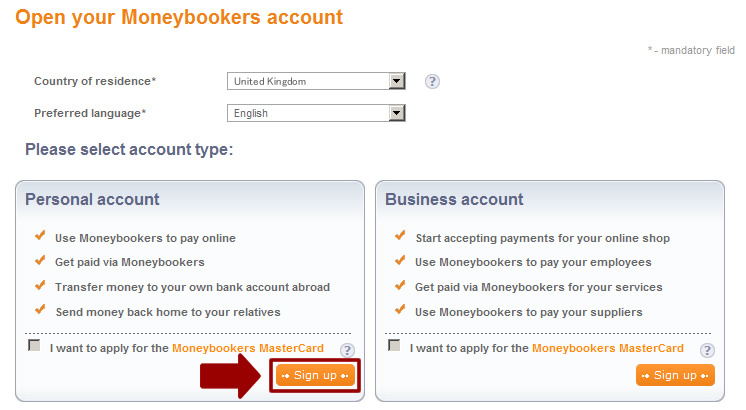 how to open skrill account